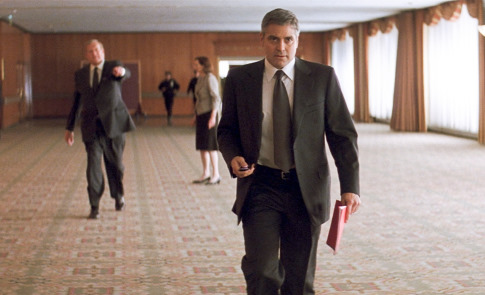 """SYDNEY POLLACK as Marty Bach and GEORGE CLOONEY as Michael Clayton in Warner Bros. Pictures, Samuels Media and Castle Rock Entertainment's drama """"Michael Clayton,"""" distributed by Warner Bros. Pictures. PHOTOGRAPHS TO BE USED SOLELY FOR ADVERTISING, PROMOTION, PUBLICITY OR REVIEWS OF THIS SPECIFIC MOTION PICTURE AND TO REMAIN THE PROPERTY OF THE STUDIO. NOT FOR SALE OR REDISTRIBUTION."""
